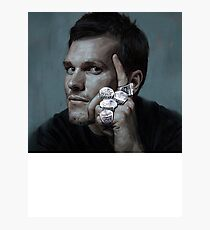 Tom Brady Five Rings Michael Jordan Pose Painting Photographic Print