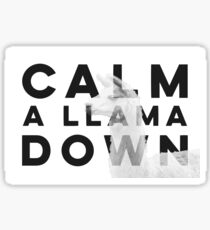 Calm a Llama Down Sticker