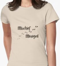 Mischief Managed Women's Fitted T-Shirt