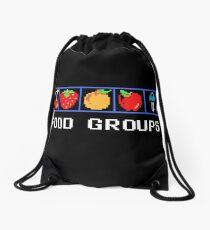 Food Groups Drawstring Bag