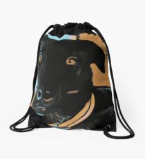 Max the dog Drawstring Bag
