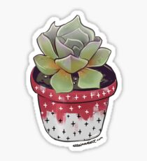 Succulent - Crosses Sticker