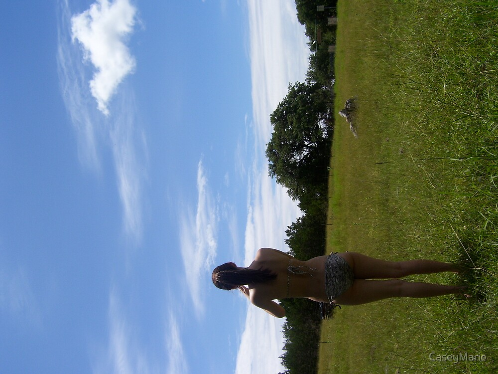 girl in grass by CaseyMarie