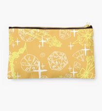 Pretty d&d for babes everywhere-Yellow/Orange Studio Pouch