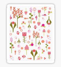 Mid Century modern floral design  Sticker