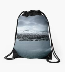 Akranes, Overcast Drawstring Bag