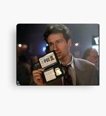 Mulder, Fox Mulder Metal Print