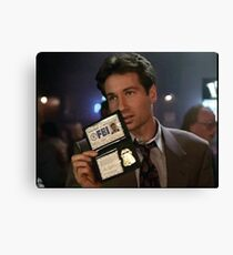 Mulder, Fox Mulder Canvas Print