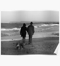 Seaside Strolling Poster