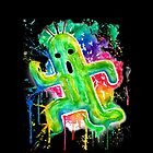 Cute Cactuar - Running Watercolor - Final fantasy - Jonny2may - Awesome!  by Jonny2may