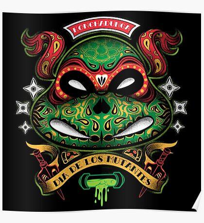 Dia De Los Mutantes Raph Poster