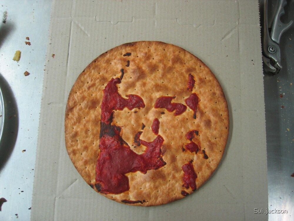 jesus in a pizza ii by Sui .jackson