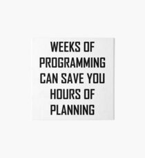 Plan your programming. Art Board