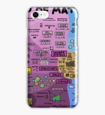 The Map of Mathematics iPhone Case/Skin