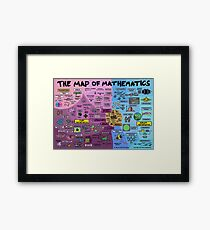 The Map of Mathematics Framed Print