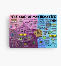 The Map of Mathematics Canvas Print