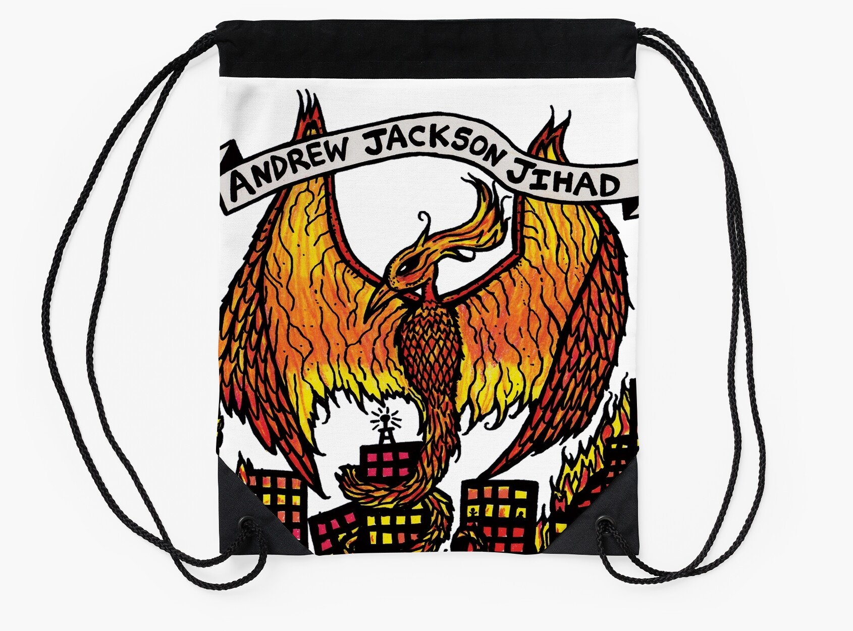 "Andrew Jackson Jihad Rare Chandeliers"" Drawstring Bags by"