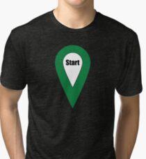 Start Here Couple or Kids Exploring Tri-blend T-Shirt