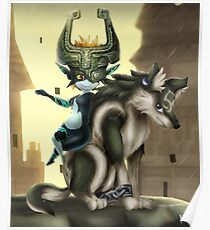 Póster Twilight Princess - Midna y Wolf Link