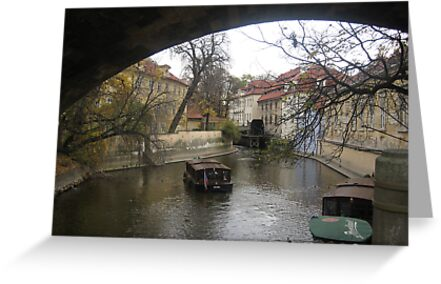 canal - prague by Suzanne German