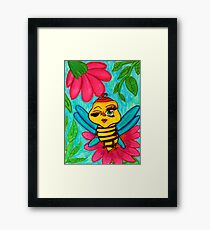 Pink Bumble Framed Print
