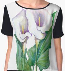 Beautiful flowers of calla Women's Chiffon Top