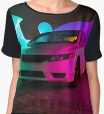 Honda Civic Pixel Stick  Women's Chiffon Top