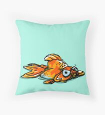 Mopey Goldy  Throw Pillow