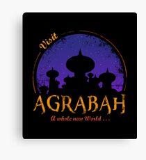 Besuche Agrabah Leinwanddruck