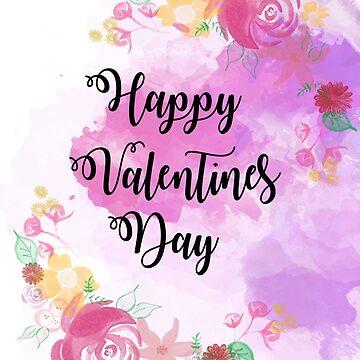 Valentines Day Print by Grinningartist