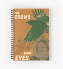 The Crows Have Eyes Movie Poster  Spiral Notebook