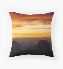 Keck Telescopes Above Clouds Throw Pillow