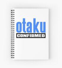 Otaku Confirmed (Blue / Black) Spiral Notebook