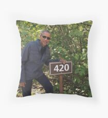 Obeezy 420 Throw Pillow