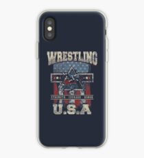 USA Wrestling T Shirts - For Youth, Men Long and Short sleeve iPhone Case