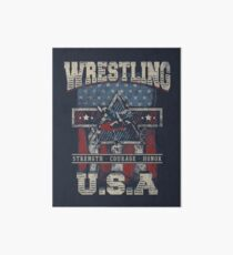 USA Wrestling T Shirts - For Youth, Men Long and Short sleeve Art Board
