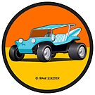 Dune Buggy Turquoise in Circle by Frank Schuster