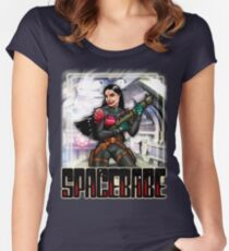 Spacebabe - Heroine of the cosmos! Women's Fitted Scoop T-Shirt
