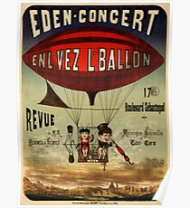 Antique French Circus Poster - Eden Concert (1884) Poster