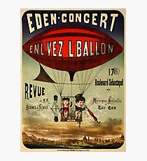 Antique French Circus Poster - Eden Concert (1884) Photographic Print