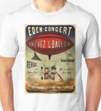 Antique French Circus Poster - Eden Concert (1884) T-Shirt