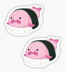 blobfish sushi Sticker