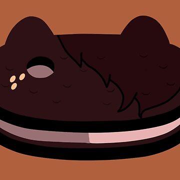 Steven Universe - Cookie Cat : Smoky Quartz Edition by MokaMizore97