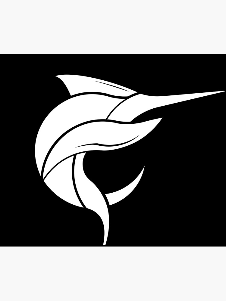 Black Marlin Blog Logo - White on Black by blackmarlinblog