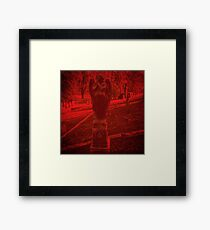 Cemetery Statue Photo Framed Print