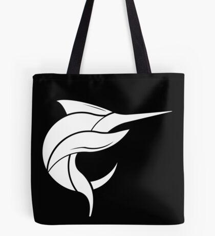 Black Marlin Blog Logo - White on Black Tote Bag