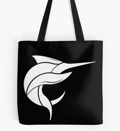 Black Marlin Blog Logo - White on Black Tote Bag