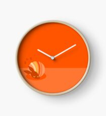 Sleeping Armadillo - Orange Clock
