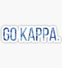 Go Kappa sticker Sticker
