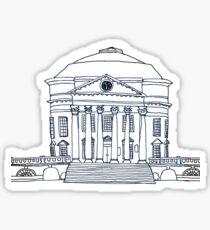 Rotunda B&W Sticker